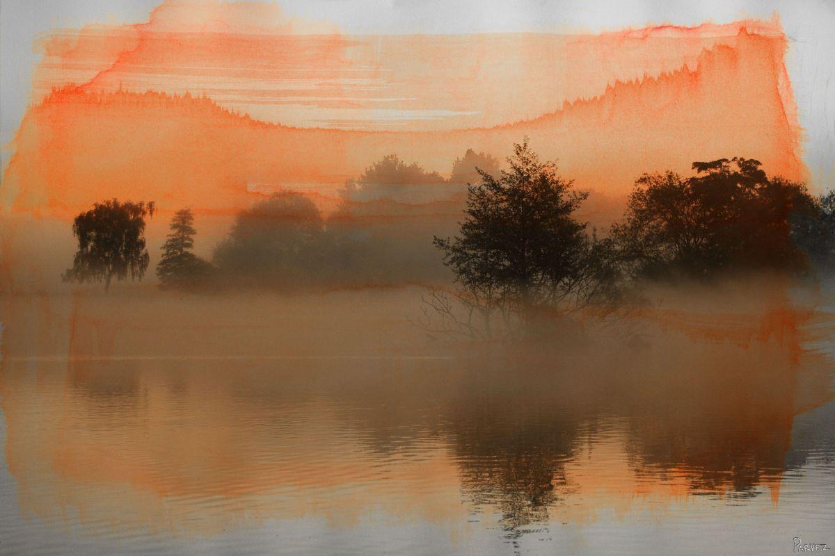 Parvez Taj Clear Water Art Print on Premium Canvas 12 x 18 Home Decor