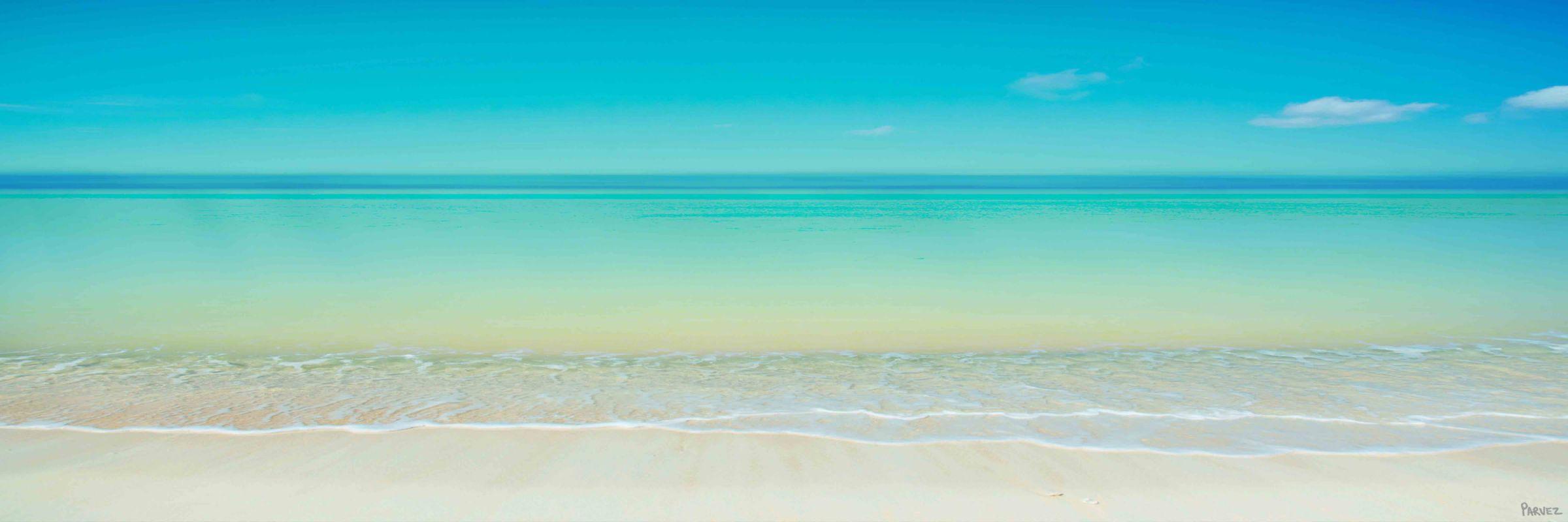 Parvez Taj Scenic Beach Print on Canvas Art Print on Premium Canvas 15