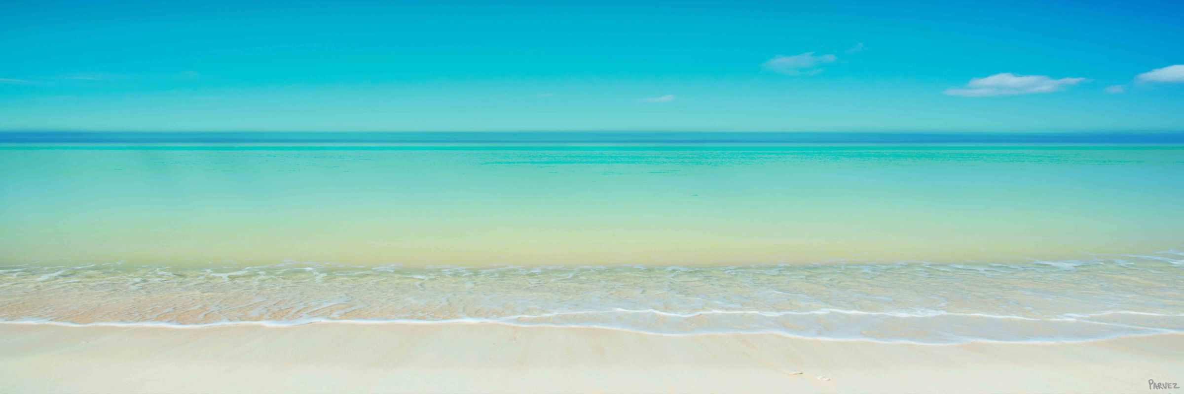 Parvez Taj Scenic Beach Print on Canvas Art Print on Premium Canvas 20