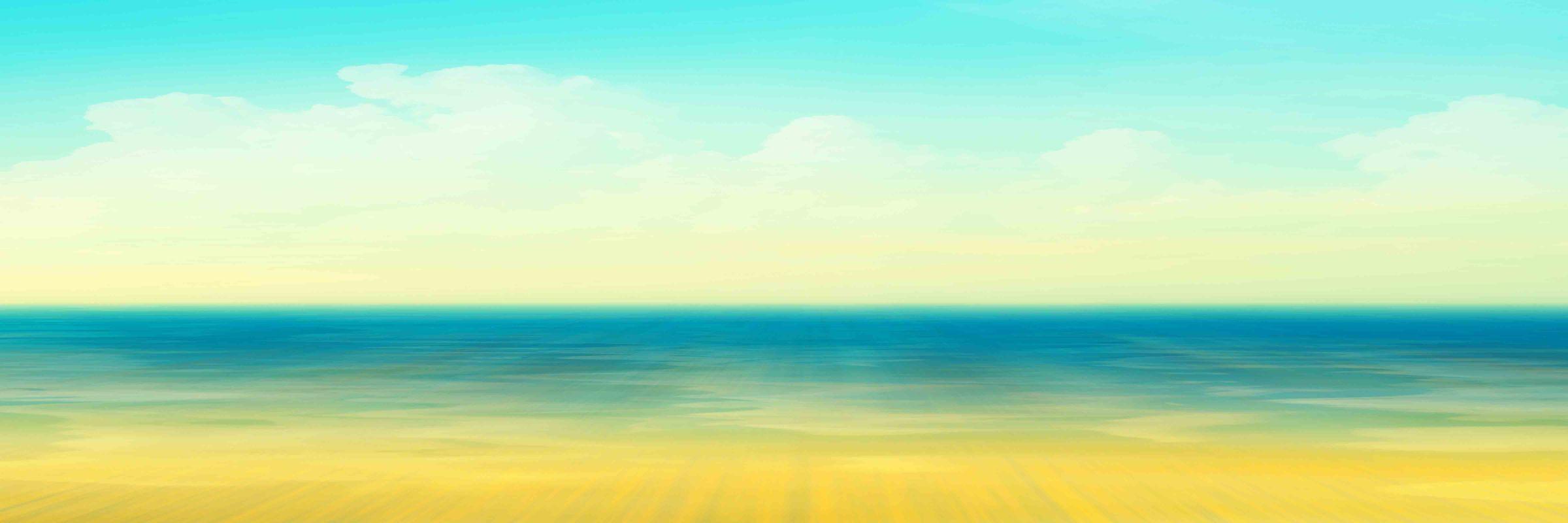 Parvez Taj Ocean Panoramic Print on Canvas Art Print on Premium Canvas
