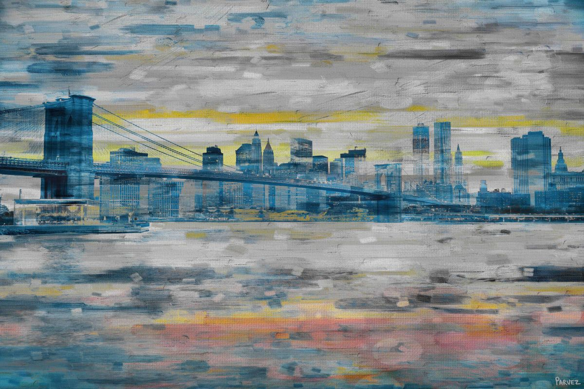 Parvez Taj Bridge Skyline Print on Canvas Art Print on Premium Canvas