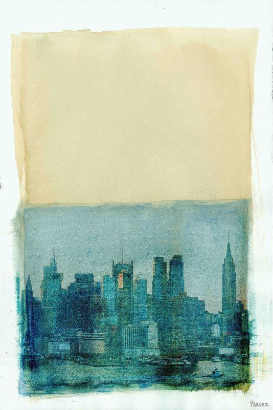 Parvez Taj NYC Lake View Print on Canvas Art Print on Premium Canvas