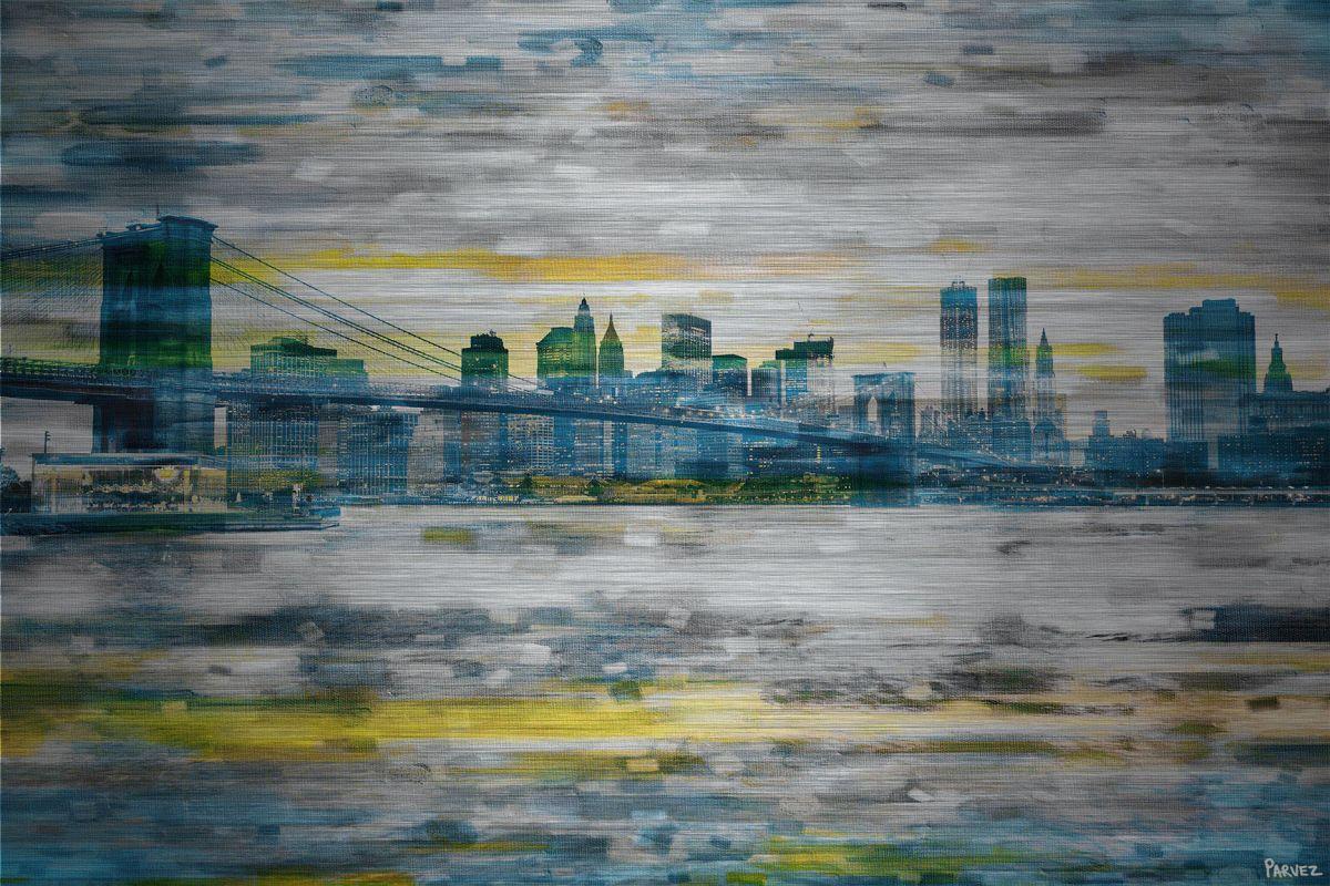 Parvez Taj Bridge Span Print on Brushed Aluminum Art Print on Brushed