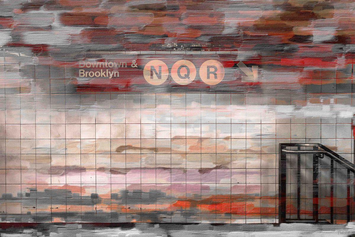 Parvez Taj Downtown and Brooklyn Print on Canvas Art Print on Premium