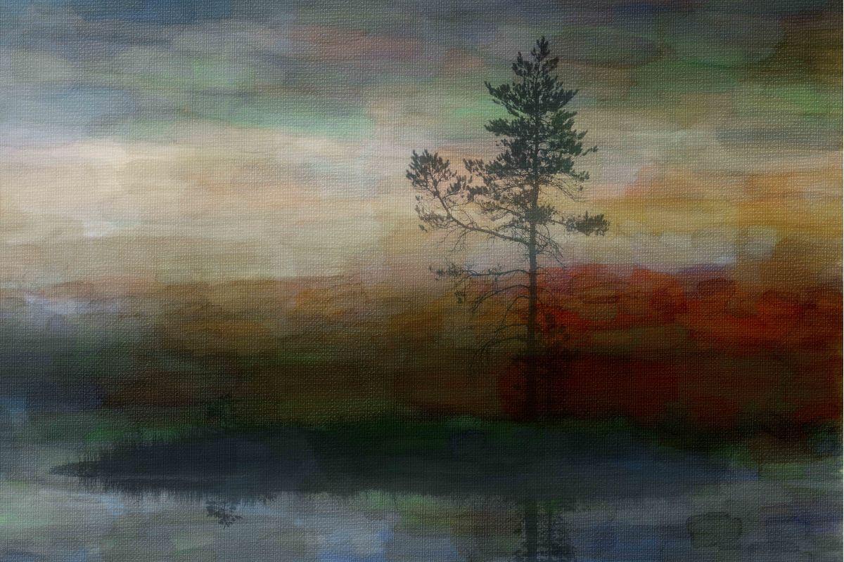 Parvez Taj Lone Tree Art Print on Premium Canvas 30 x 45 Home Decor Sale $185.16 ITEM: bci2686164 ID#:PTNOV-111-C-45 UPC: 708191045489 :