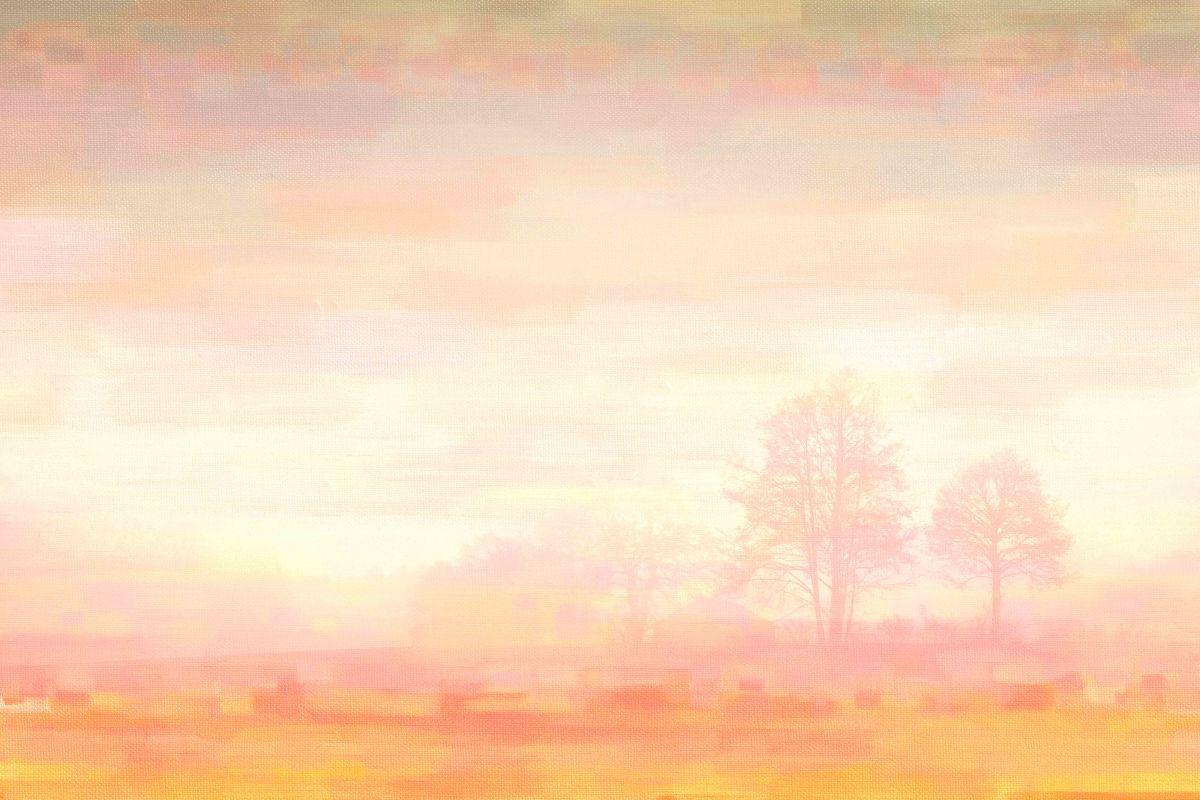 Parvez Taj Orange Mist Art Print on Premium Canvas 16 x 24 Home Decor
