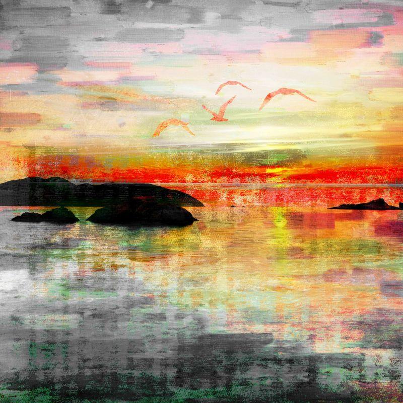 Parvez Taj Birds in the Sunset Art Print on Premium Canvas 48 x 48 Sale $307.31 ITEM: bci2685589 ID#:PTNOV-64-C-48 UPC: 708191047179 :