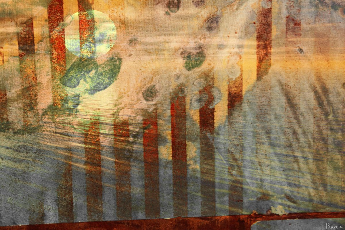 Parvez Taj Sun Set Art Print on Premium Canvas 12 x 18 Home Decor