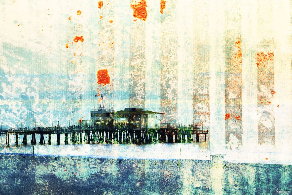Parvez Taj Santa Monica Pier - Canvas Art Print on Premium Canvas 12 x Sale $76.54 ITEM: bci2686511 ID#:S13-12-C-18 UPC: 852659934218 :