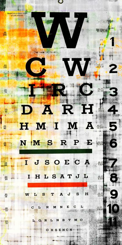 Parvez Taj Eye Chart - Canvas Art Print on Premium Canvas 60 x 30 Home Sale $237.03 ITEM: bci2685849 ID#:S13-318-C-60 UPC: 852659932917 :