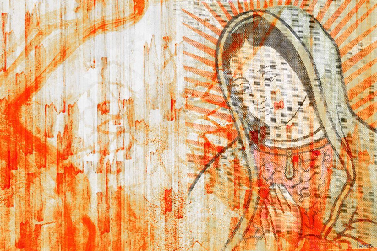 Parvez Taj Mary Art Print on Premium Canvas 16 x 24 Home Decor Canvas