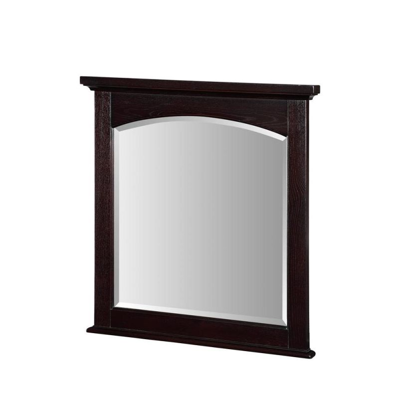 "Pegasus PEGHVTM30BE Harvest 30"" Framed Wall Mounted Mirror Red Ebony"