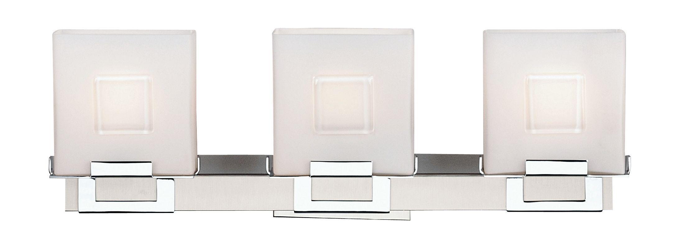 Philips F442136NV Square 3 Light Bathroom Vanity Light Satin Nickel
