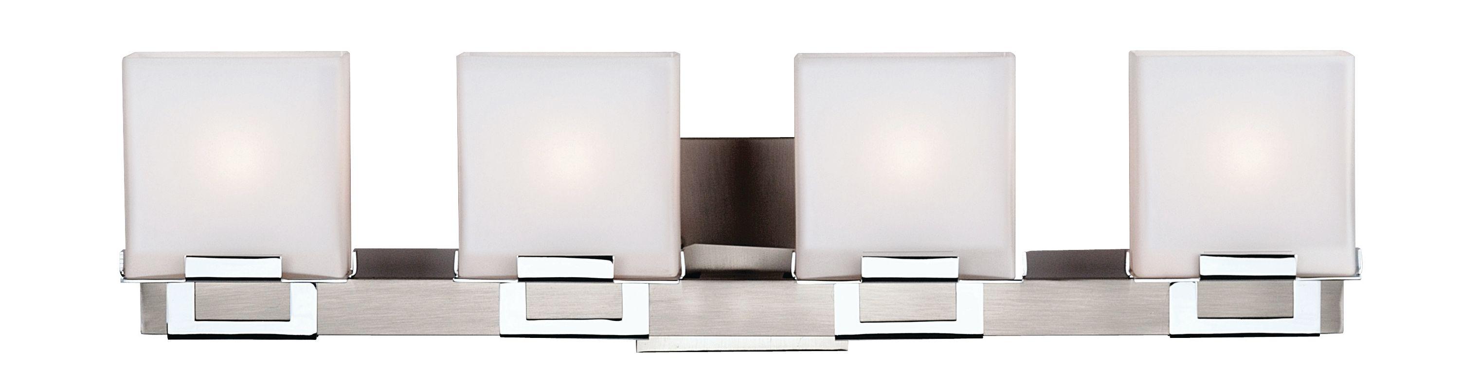 Philips F442236NV Square 4 Light Bathroom Vanity Light Satin Nickel