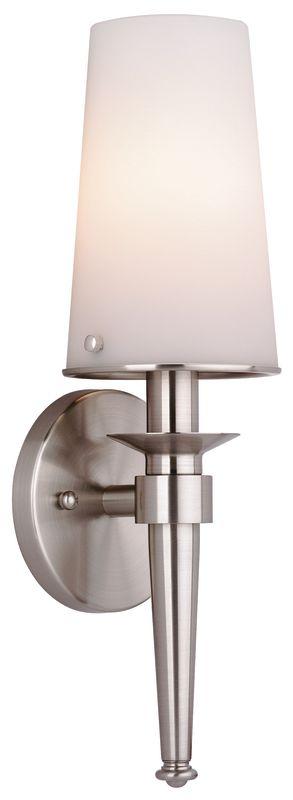Philips F542736NV2 Torch 1 Light Bathroom Wall Sconce Satin Nickel