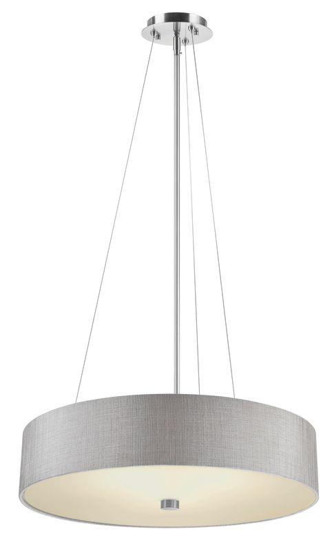 Philips FA0082836 Chelsea 1 Light LED Drum Pendant Satin Nickel Indoor