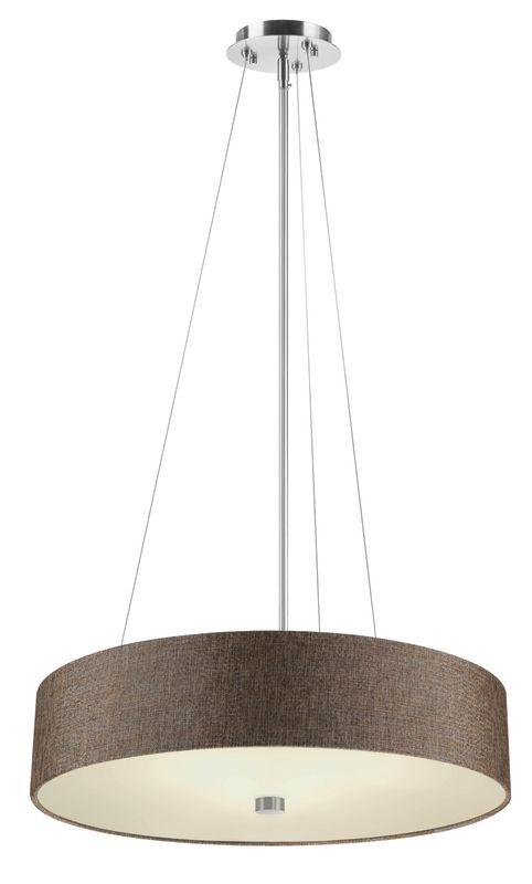 Philips FA0083836 Chelsea 1 Light LED Drum Pendant Satin Nickel Indoor