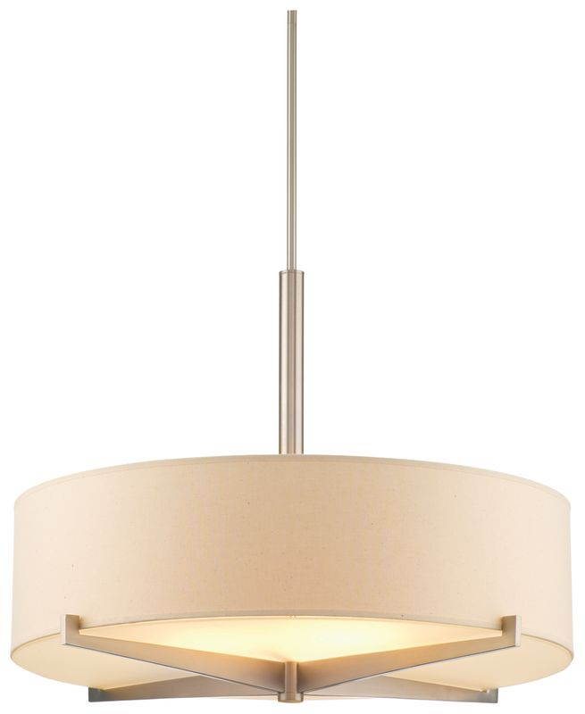 Philips FC0064836 Fisher Island 3 Light Drum Pendant Satin Nickel