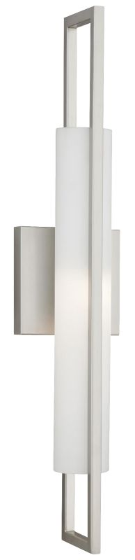Philips FL0011836 Front Row 1 Light Wall Sconce Satin Nickel Indoor