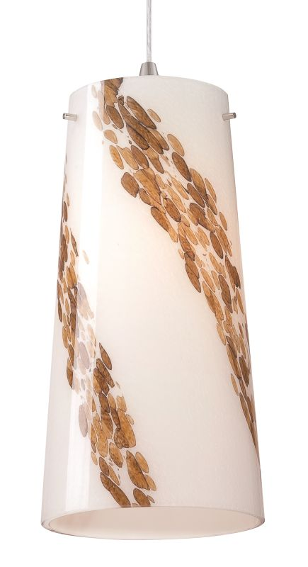 "Philips FQ0066031 Piave 6"" X 13"" White Art Glass Shade with Espresso"