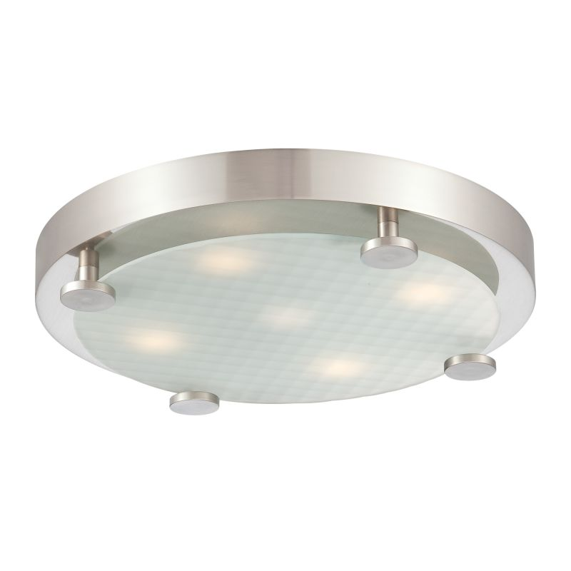 Philips ceiling lights design : Philips  brushed nickel flush light led