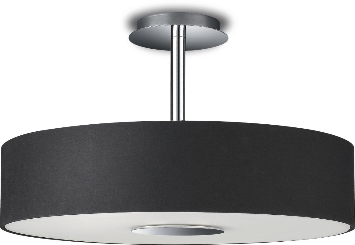 philips 374813048 black 3 light semi flush mount ceiling light from