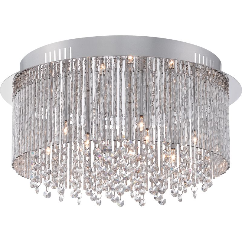 "Platinum PCCT1616 Countess 9 Light Flush Mount Ceiling Fixture Sale $379.99 ITEM: bci2628826 ID#:PCCT1616C UPC: 611728210369 Features: Durable steel frame ensures years of reliable performance Fully covered under Quoizel's limited lifetime warranty Designed to cast light in a downward direction Lamping Technology: Bulb Base - G4: A bi pin or 'bipin socket', the G4 has a pin spread of 4mm and is used mostly in MR11 and other small halogens of 5/10/20 watt range with 6 or 12 volts. Compatible Bulb Types: G4 Bulb Base uses primarily a Halogen but is also compatible as LED and Xenon / Krypton. Dimensions: Height: 8.5"" Width: 16.5"" Electrical Specifications: Number of Bulbs: 9 Bulb Base: G4 Bulb Type: Xenon / Krypton Watts per Bulb: 20 Total Wattage: 180 Bulb Included: Yes Voltage: 12 Compliance: UL Listed - Indicates whether a product meets standards and compliance guidelines set by Underwriters Laboratories. This listing determines what types of rooms or environments a product can be used in safely. About Quoizel: At Quoizel, we create more than lighting. We create timeless pieces designed with you in mind. We do this by avoiding trends and fads, by balancing form and function, and by making our choices thoughtfully. This kind of dedication, integrity and quality not only goes into the design of our products, but it's in the way we do business as well. It's why we've grown from a small company to become one of the nation's leading manufacturers of fine decorative lighting. Founded in 1930 in New York, we relocated to Charleston, SC in 1996 to a state-of-the-art 500,000 square-foot facility. Though we've grown in size, we've never lost sight of our small business heritage. In fact, we remain privately held, family-owned and operated. Many of our products embody our history of being artisans in glass and natural materials. We work with resources that will not only illuminate your living space but also enhance the beauty of your home. :"