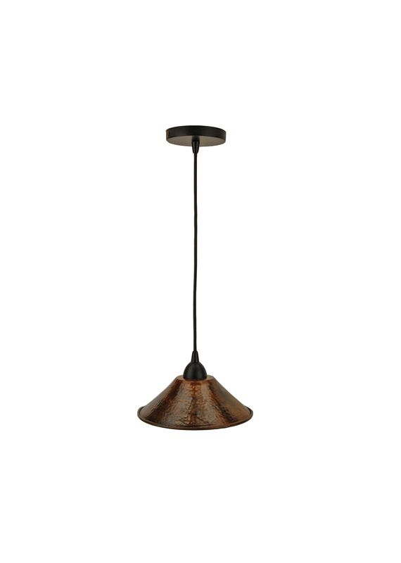 Premier Copper Products L500DB 9&quote Pendant Light Hand Hammered Copper