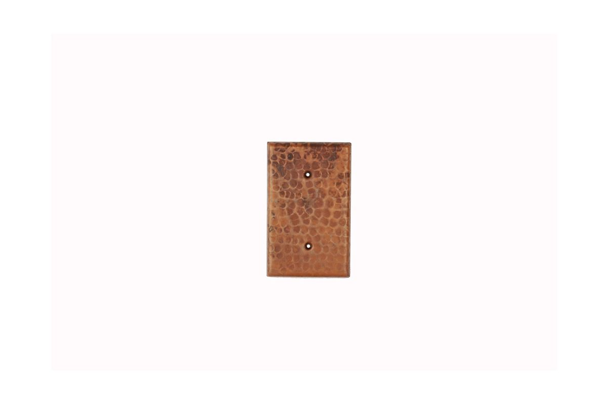 Premier Copper Products SB1 Blank Hand Hammered Copper Switch Plate
