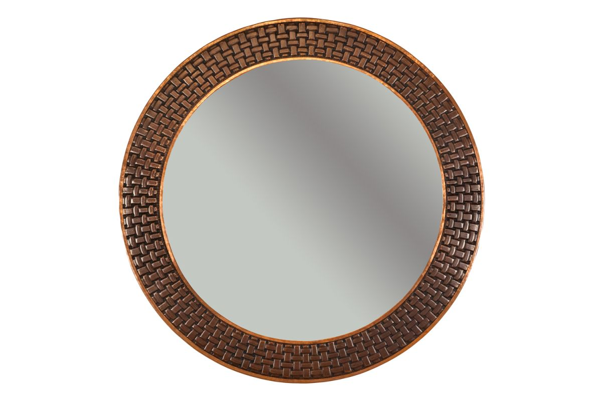 "Premier Copper Products MFR3434-BR 34"" Round Hand Hammered Copper"