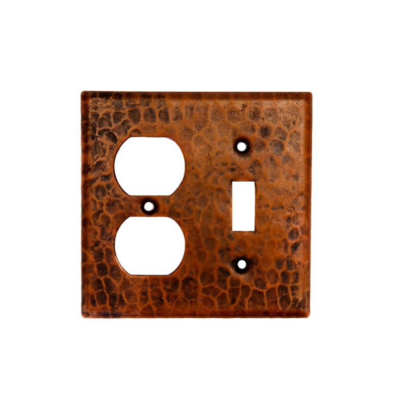 Premier Copper Products SCOT Copper Combination Switchplate 2 Hole