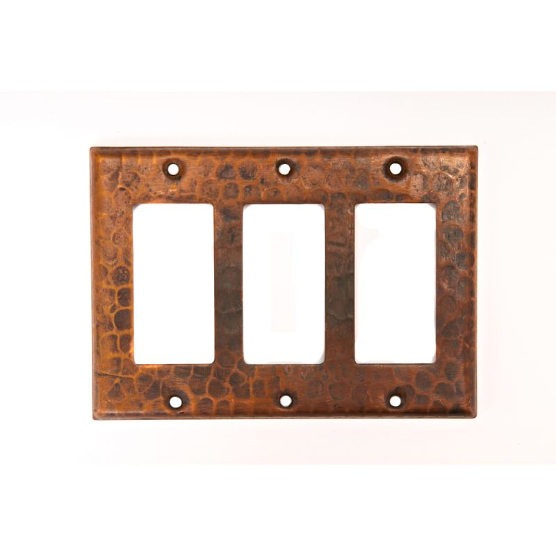 Premier Copper Products SR3 Copper Switchplate Triple Ground