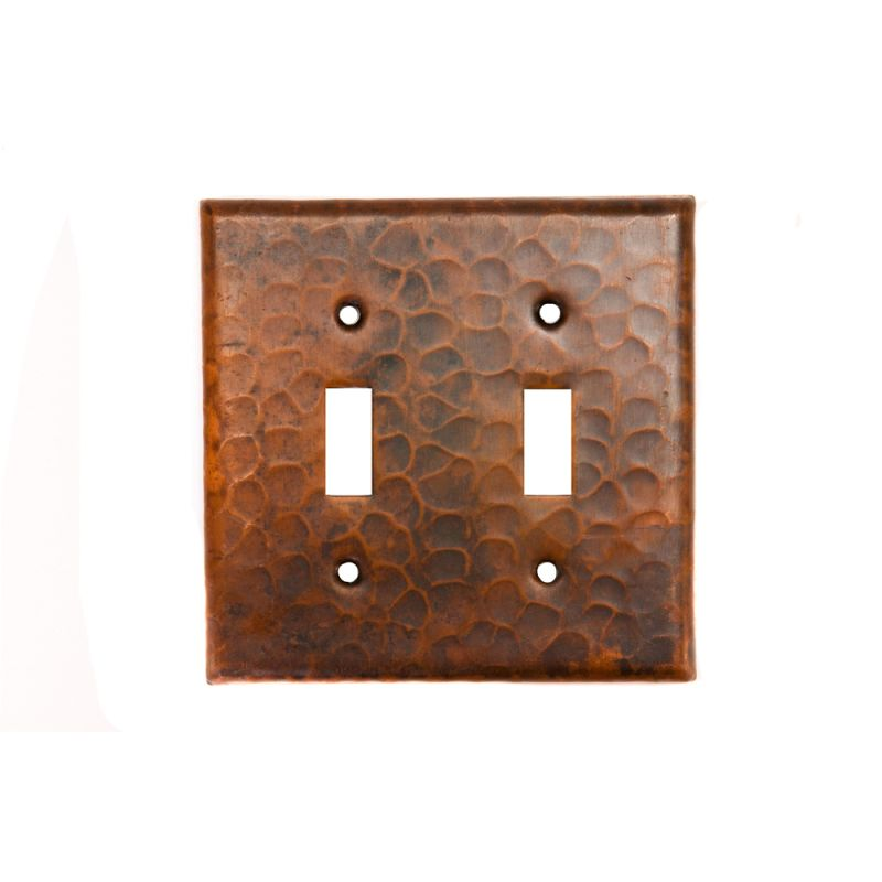 Premier Copper Products ST2 Copper Switchplate Double Toggle Switch