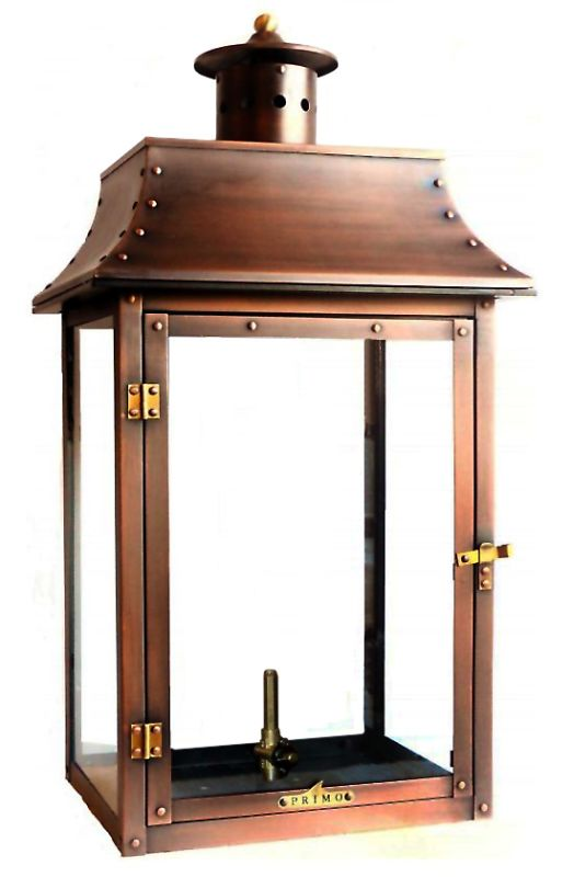 Primo Lanterns Pl 26 Aged Copper Conti 27 Quot Outdoor Wall Mounted Lantern In Natural Gas