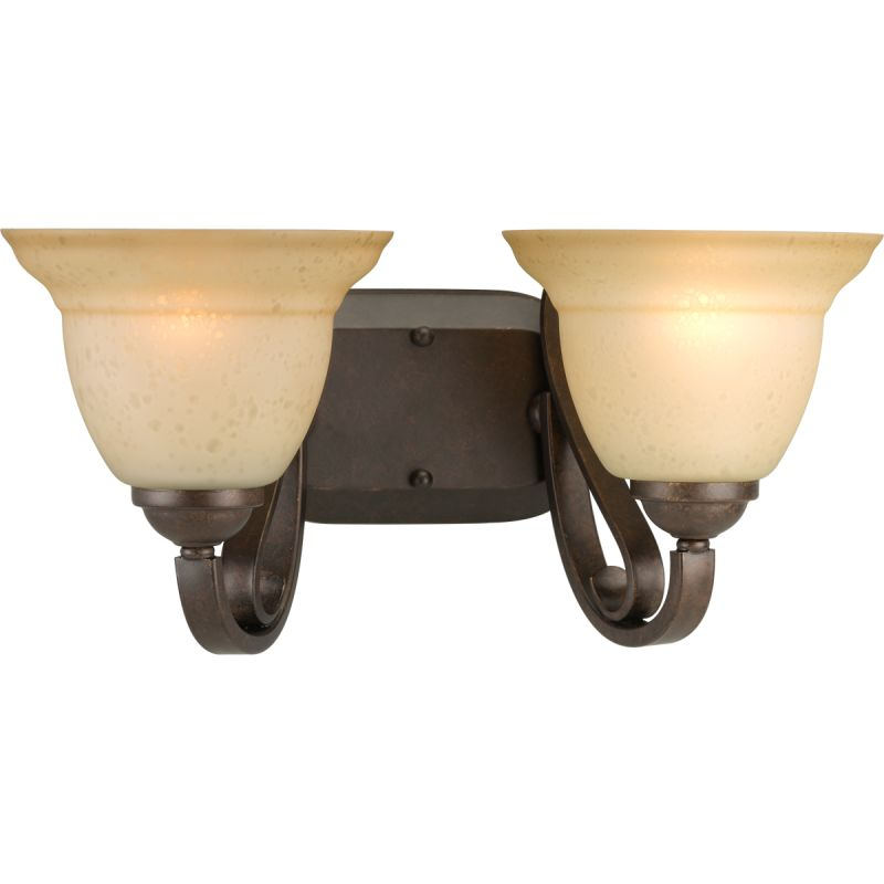 Progress Lighting P2882 Torino Two-Light Bathroom Fixture with Tea