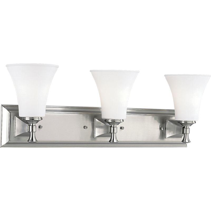 Progress Lighting P3133 Fairfield Three-Light Bathroom Fixture with Sale $228.70 ITEM: bci355639 ID#:P3133-09 UPC: 785247116997 :
