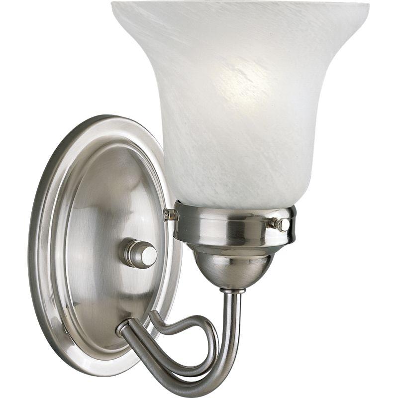 Progress Lighting P3367 Bedford Single Light Bathroom Sconce Brushed