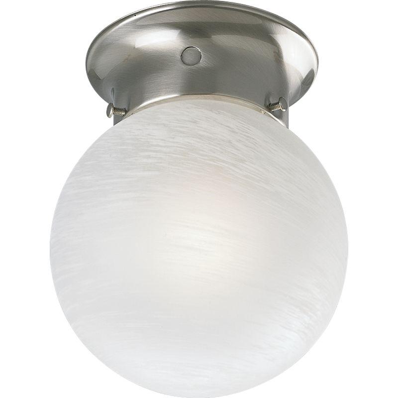 "Progress Lighting P3401 White Alabaster Glass Series 6"" Single-Light"