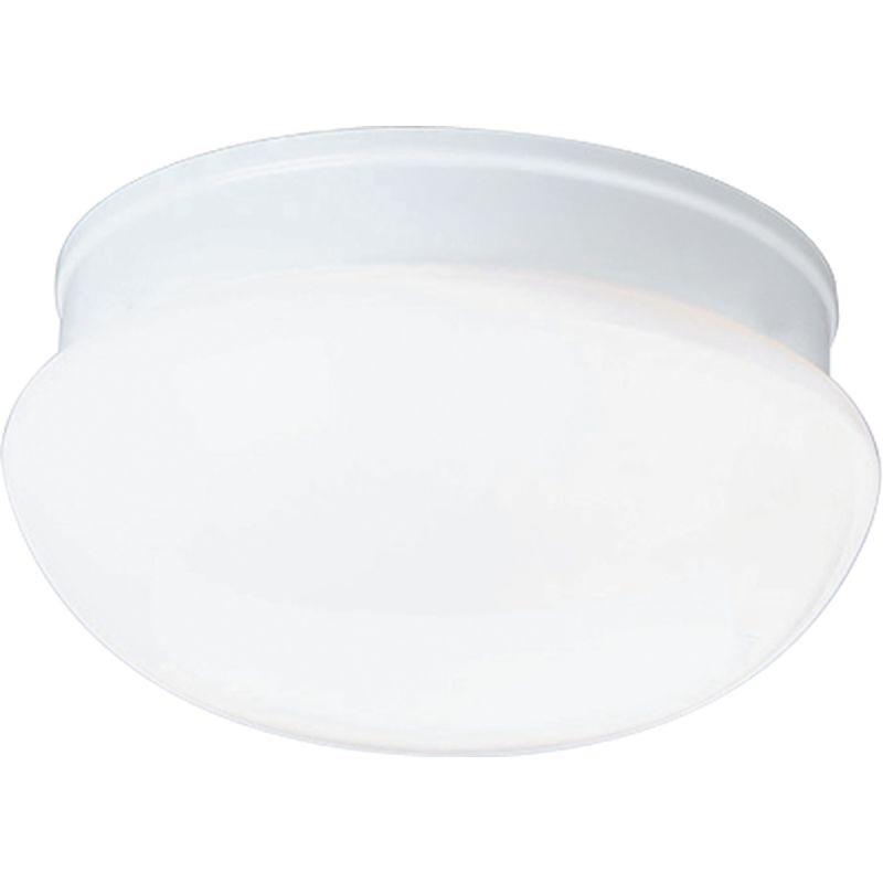 """Progress Lighting P3408 Fitter 1 Light 8"""" Wide Flush Mount Ceiling"""