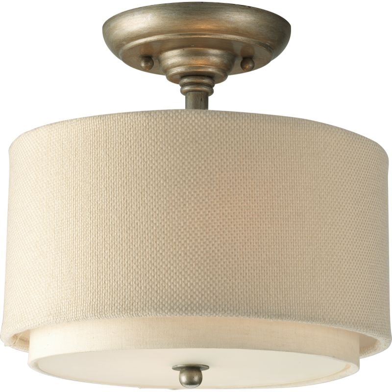 "Progress Lighting P3886 Ashbury 10"" Two-Light Semi-Flush Mount Ceiling"