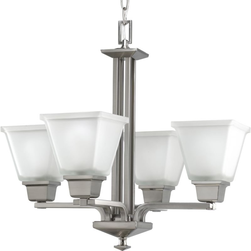 Progress Lighting P4001 North Park 4 Light Chandelier with Etched Sale $284.85 ITEM: bci1057722 ID#:P4001-09 UPC: 785247153862 :