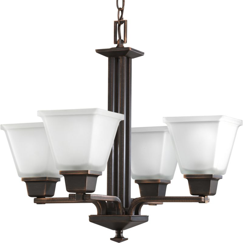 Progress Lighting P4001 North Park 4 Light Chandelier with Etched Sale $284.85 ITEM: bci1057723 ID#:P4001-74 UPC: 785247153961 :