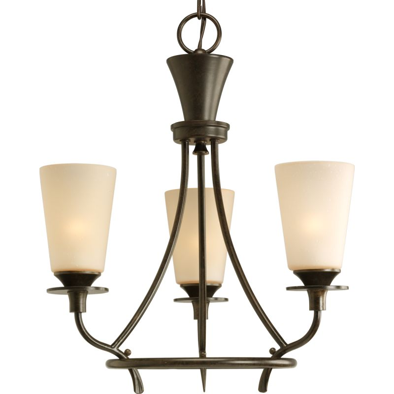 "Progress Lighting P4005 Cantata 3 Light 17""W 1 Tier Chandelier Forged"