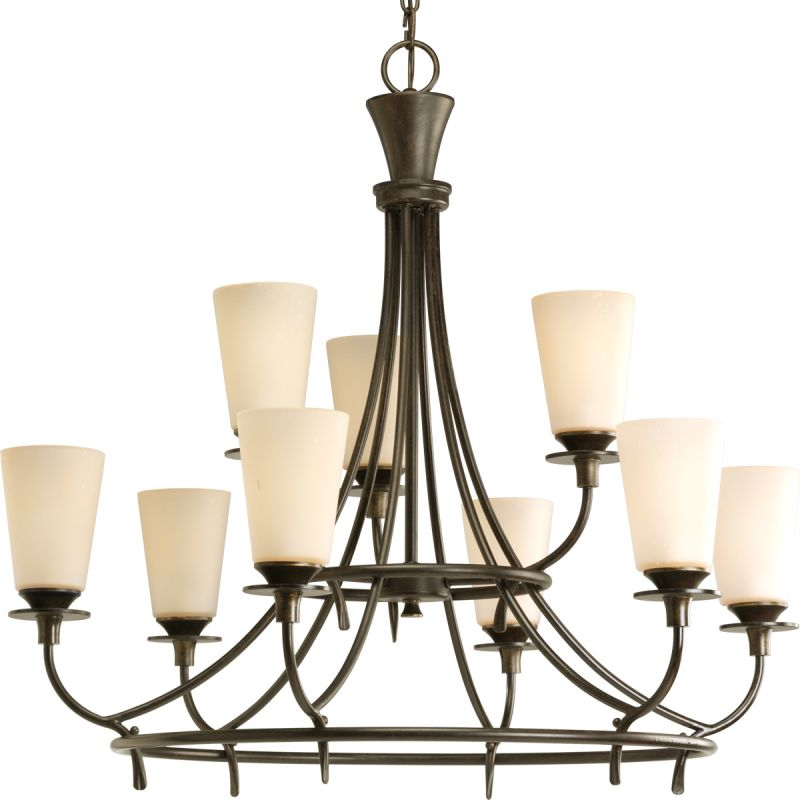 "Progress Lighting P4039 Cantata 9 Light 30.75""W 2 Tier Chandelier"