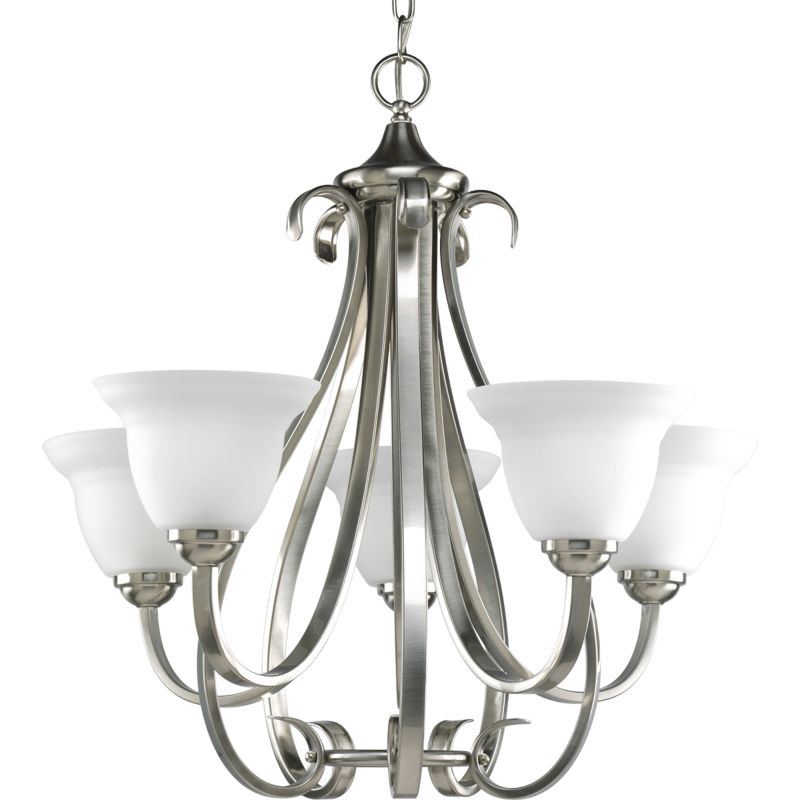 Progress Lighting P4416 Torino 5 Light Chandelier with Etched Glass