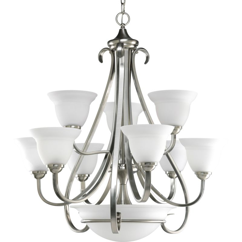 Progress Lighting P4418 Torino 12 Light Chandelier with Etched Glass