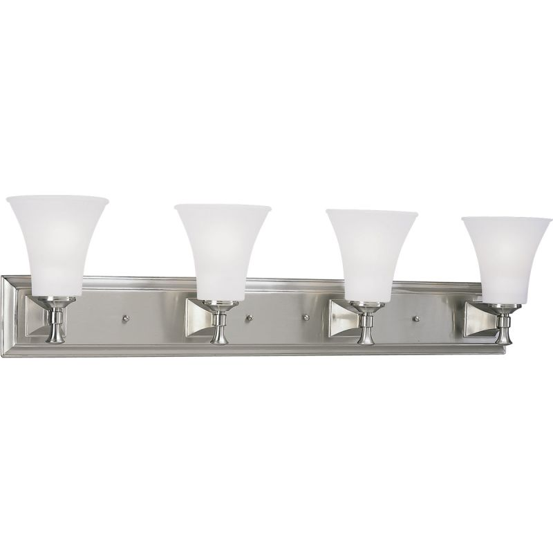 Progress Lighting P3134 Fairfield Four-Light Bathroom Fixture with Sale $295.80 ITEM: bci355642 ID#:P3134-09 UPC: 785247117024 :
