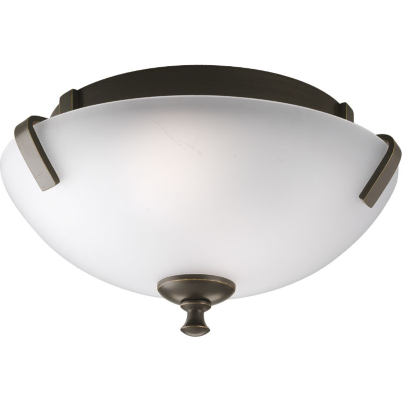 "Progress Lighting P3290-EBWB-LQ Wisten 14"" Two-Light Semi-Flush Mount"