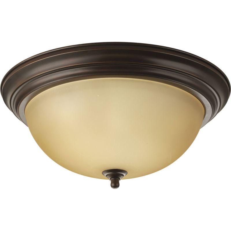 "Progress Lighting P3926T Alabaster Series 15-1/4"" Single-Light Flush"