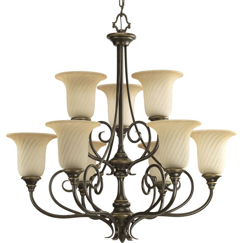 Progress Lighting P4288 Kensington Nine Light Two-Tier Up Lighting Sale $707.94 ITEM: bci1708836 ID#:P4288-77 UPC: 785247164035 :